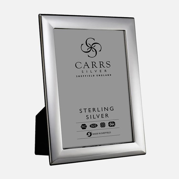 Plain Sterling Silver Photo Frame With Black Wood Back