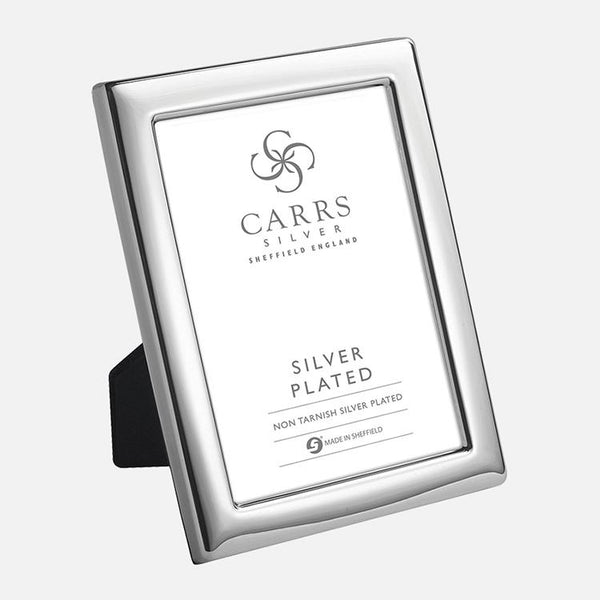 Plain Silver Plated Photo Frame With Grey Velvet Back