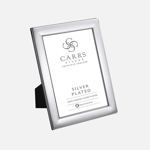 Plain Silver Plated Photo Frame With Wood Back