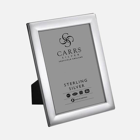 Plain Sterling Silver Photo Frame With Wood Back