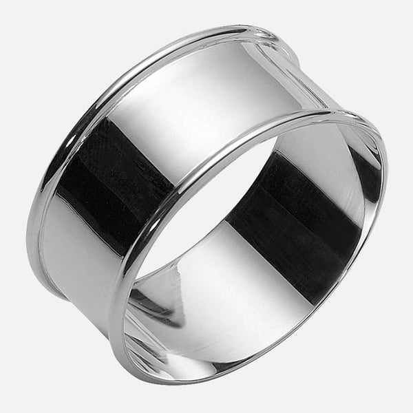 Sterling Silver Round Napkin Ring With Wrapped Edge