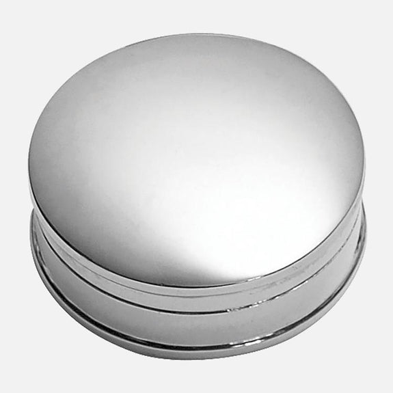 Sterling Silver Round Pill Keepsake Box