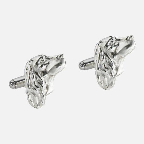 SALE - Spaniel Cufflinks Sterling Silver