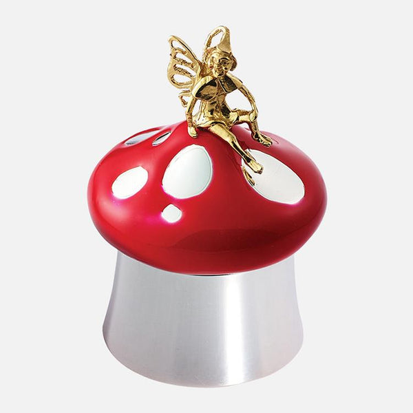 Toothfairy Toadstool Sterling Silver Keepsake Box