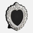Traditional Photo Frame Grey Velvet Back 1.75x1.5 Sterling Silver