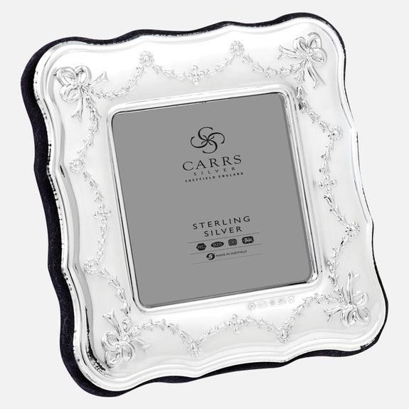 Traditional Sterling Silver Photo Frame With Wood Back
