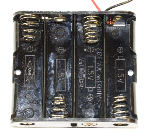 Battery Holder for 4 AA Batteries