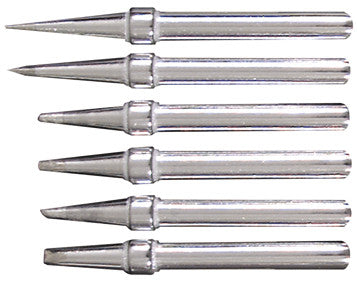 Six Replacement Tips for Deluxe & Pro Soldering Irons