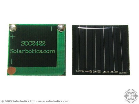 Small Solar Cell 24 x 22mm, 3.4V, 12mA
