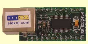 USB Plug and Play Parallel 8-Bit FIFO Module (USB245R )
