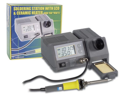 SOLDERING STATION WITH LCD & CERAMIC HEATER 48W 302F - 842F
