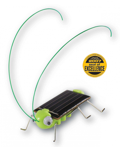 Frightened Grasshopper Mini Solar Robot Kit