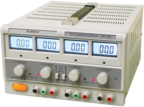 Triple Power Supply with LCD Displays
