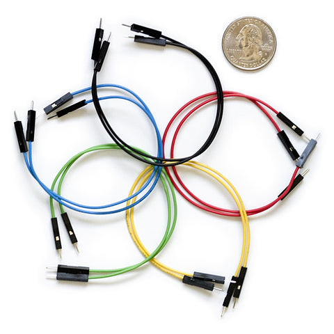 "Premium Male/Male Jumper Wires - 6"" (Pack of 10)"