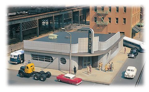 Bus Station - Citysceness Building Kit (HO Scale)
