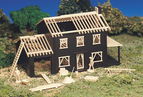 House Under Construction (HO Scale)