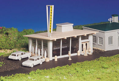 Drive-In Burger Stand (HO Scale)