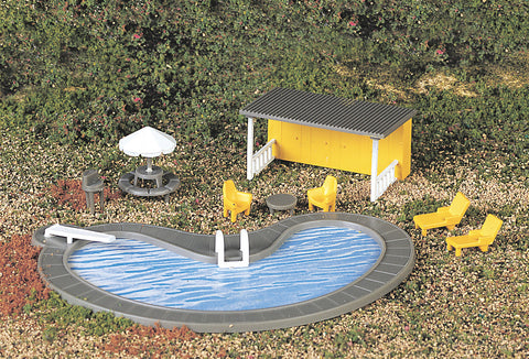 Swimming Pool & Accessories (HO Scale)