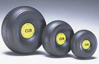 "1/5 Scale Trded Lightweight J-3 Cub Wheels (3-3/8"" Dia.) (QTY/PKG: 2 )"