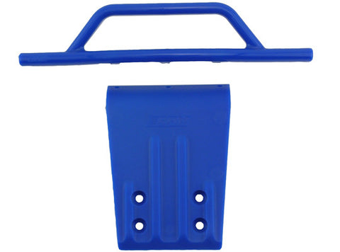 Front Bumper & Skid Plate for the Traxxas Slash 2wd & Nitro Slash   Blue
