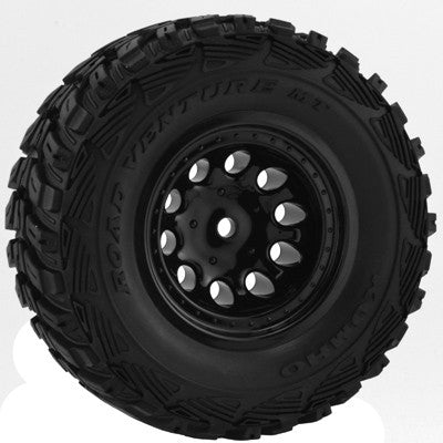 Black Revolver Short Course Wheels   Slash 2wd Ft.