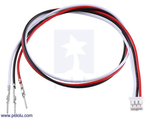 "3-Pin Female JST PH-Style Cable (30 cm) with Male Pins for 0.1"" Housings"