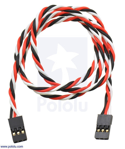 "Twisted Servo Extension Cable 24"" Female - Female"