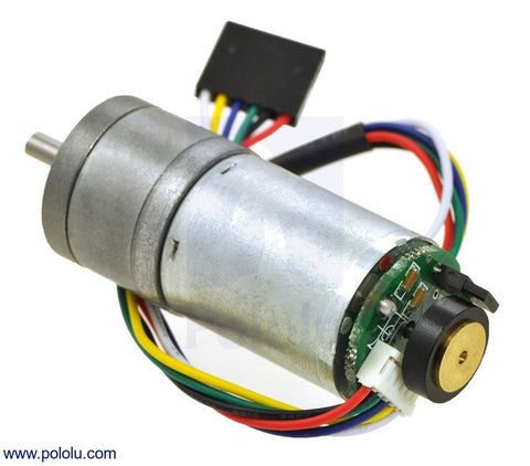 20.4:1 Metal Gearmotor 25Dx50L mm HP 12V with 48 CPR Encoder