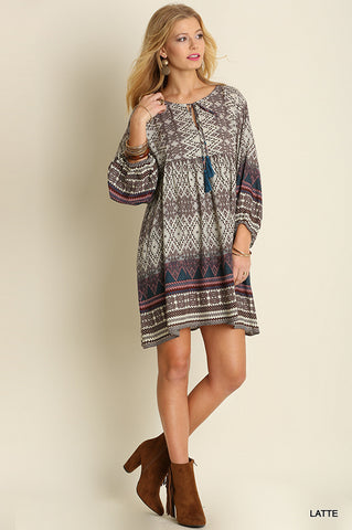 Meet Me For Coffee Tunic Dress - Latte