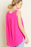 Sweet And Simple Sleeveless Top | Hot Pink