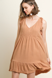 Tailgates To Festivals Frayed Linen Dress