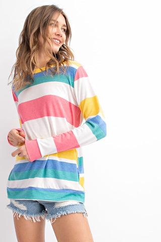 Color Me Happy Striped Top