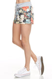 Floral Lounge Shorts - Grey