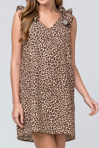 In The Spotlight Leopard Print Dress