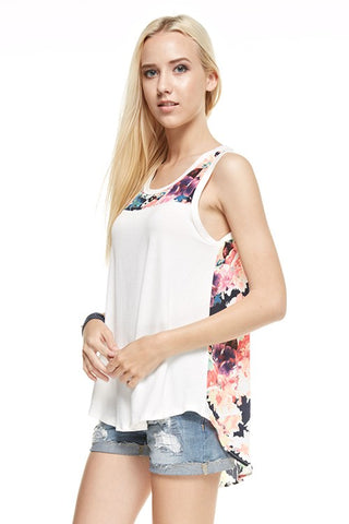 May Flowers Top - Ivory
