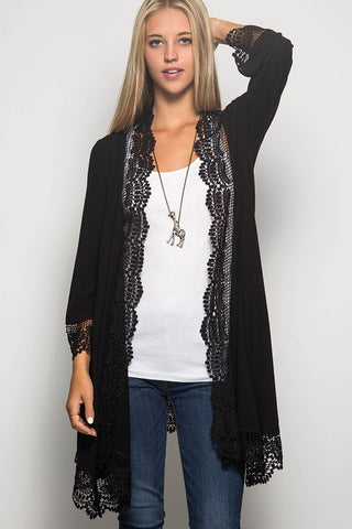 I Found The One Lace Cardigan - Black