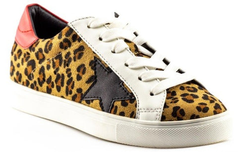 Star Sneakers- Leopard