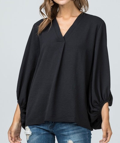 Jet Lagged Bubble Sleeve Top