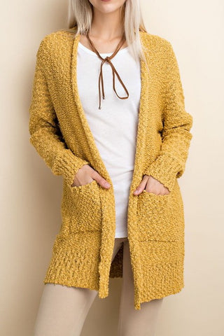 Walk With Me Cardigan - Mustard