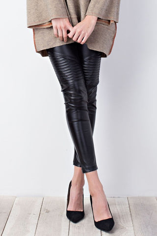 Moto Faux Leather Pants