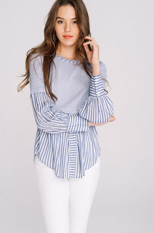 Solid And Stripes Top