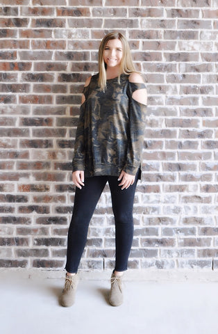 For The Love Of Camo Top