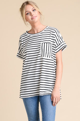 Simply Irresistible Striped Top - Black