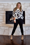 Fireside Purrfection Animal Print Sweater