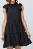 Celebration Black Ruffle Dress