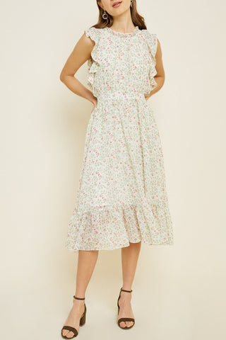 Sunday Brunch Floral Midi Dress
