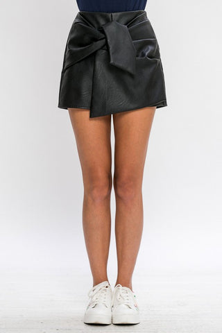 Up All Night Leather Skort