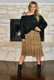 Leopard Print Smocked Tiered Dress