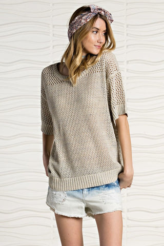Falling For You Sweater - Oatmeal