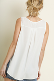 Sweet And Simple Sleeveless Top | White